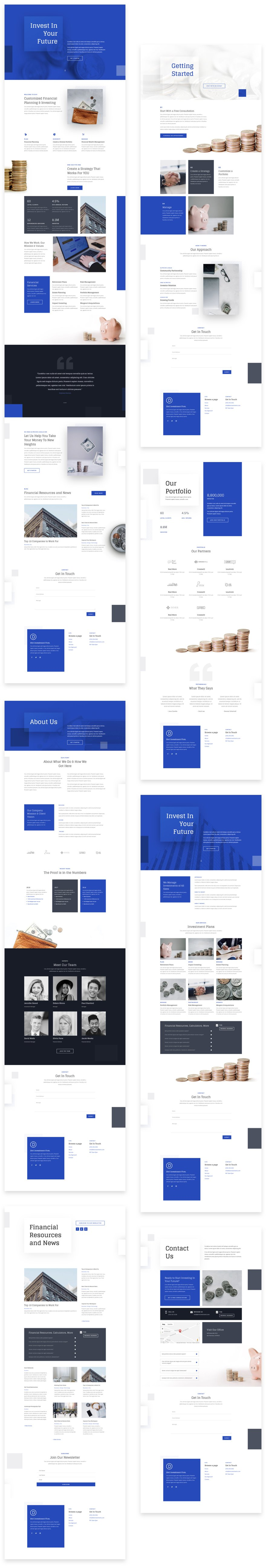 Get a FREE Investment Company Layout Pack for Divi
