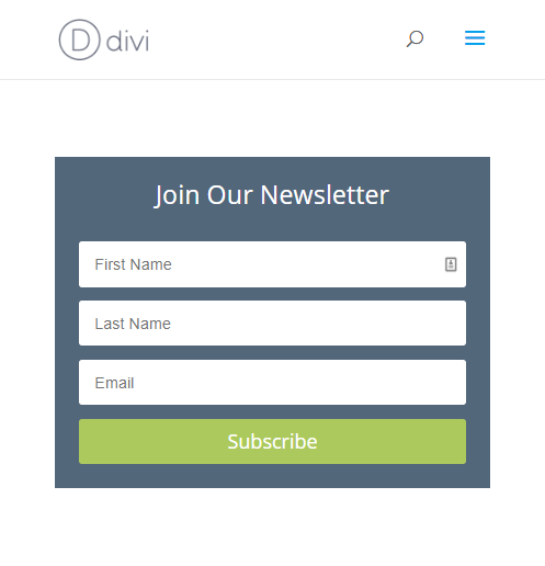 divi email opt-in module
