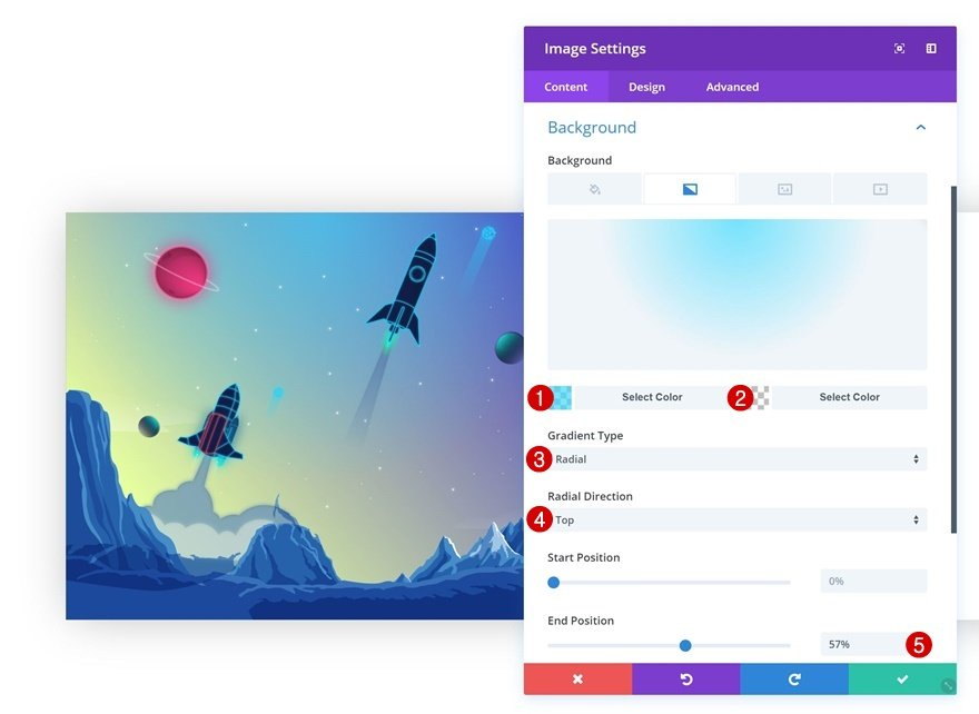 gradient background on hover