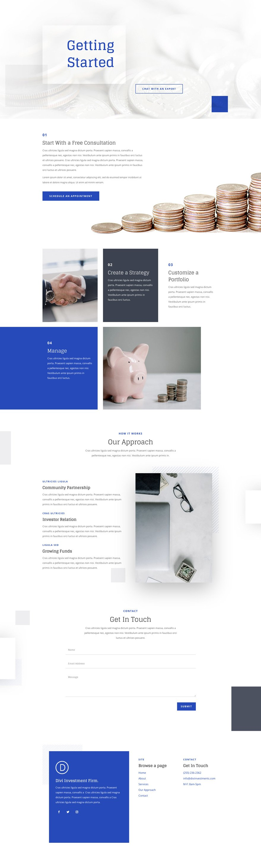 investment company layout pack