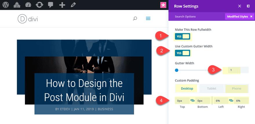 divi post title module