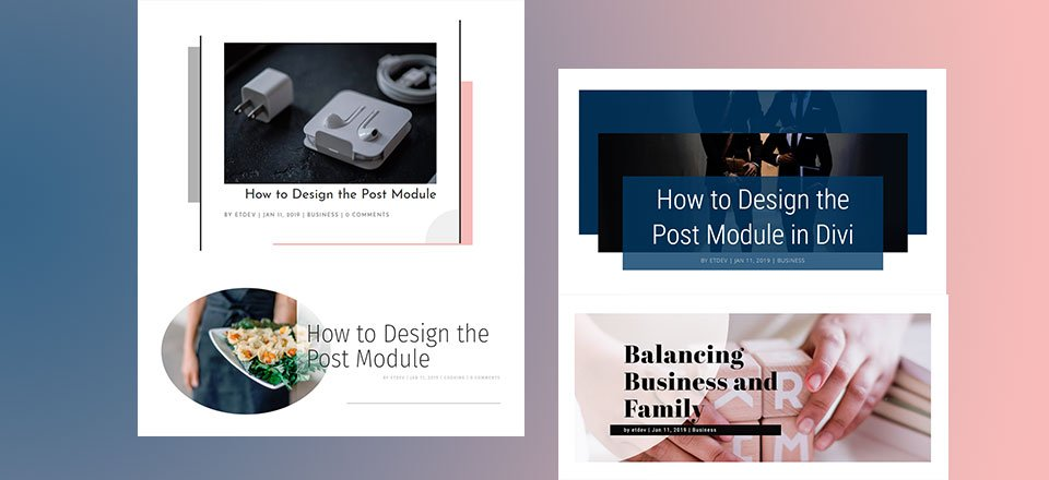 4 Stunning Examples of Divi's Post Title Module & How to Achieve Them
