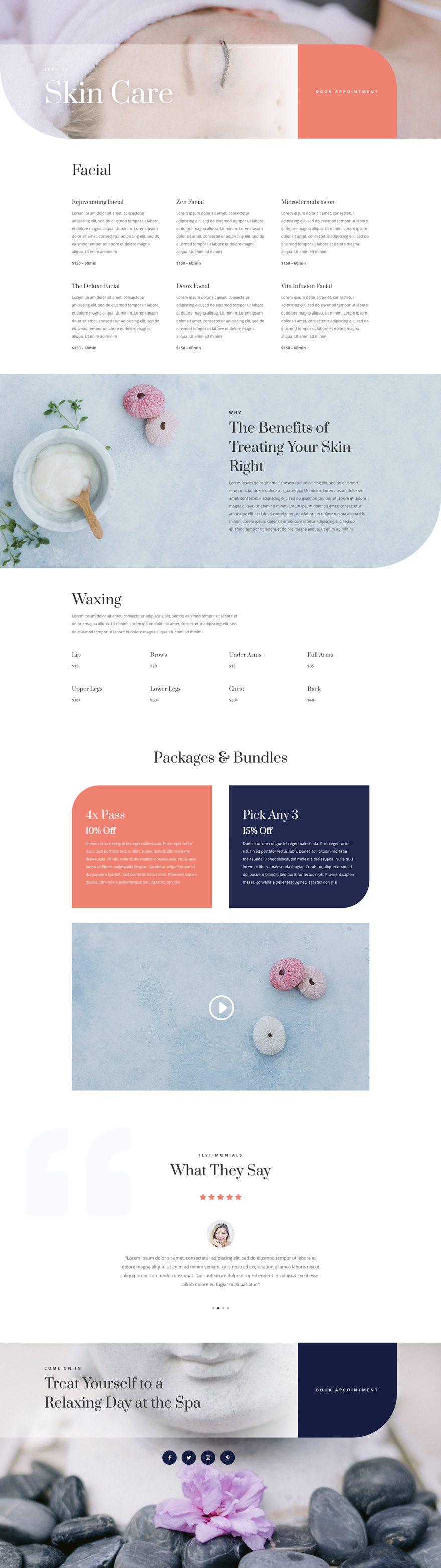 paquete de diseño de spa de día divi