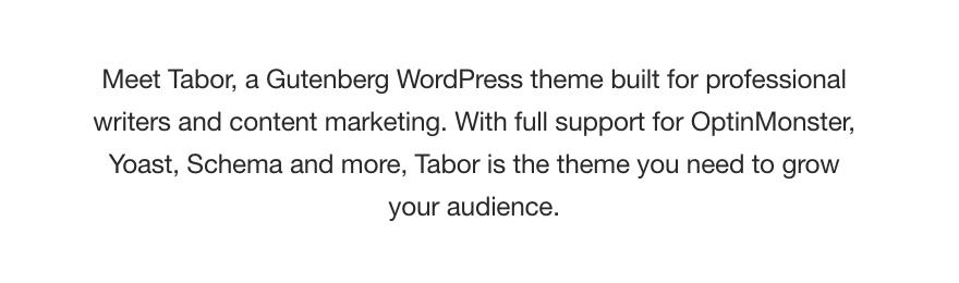 The Tabor theme.