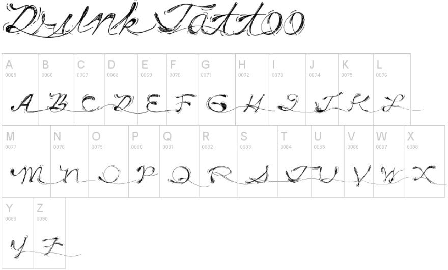 Tattoo Fonts and Scripts