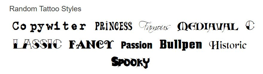 21 Tattoo Fonts and Scripts to Ink into Your Website Forever
