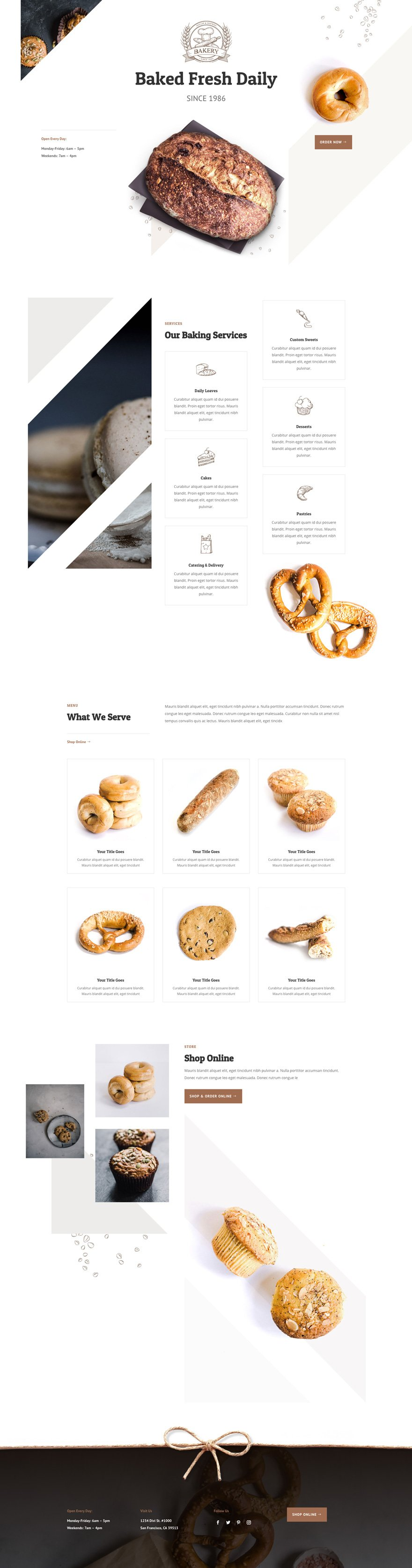 divi bakery layout pack