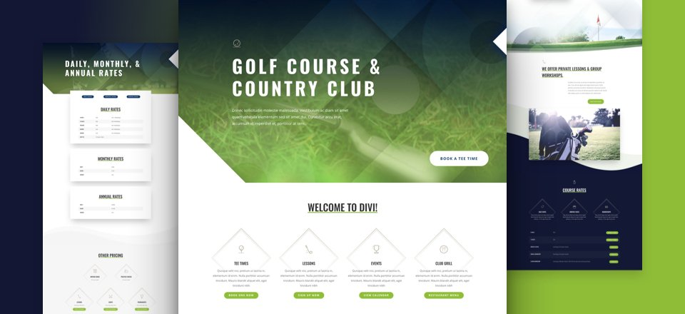 Get A Free Golf Course Layout Pack For Divi Elegant Themes Blog