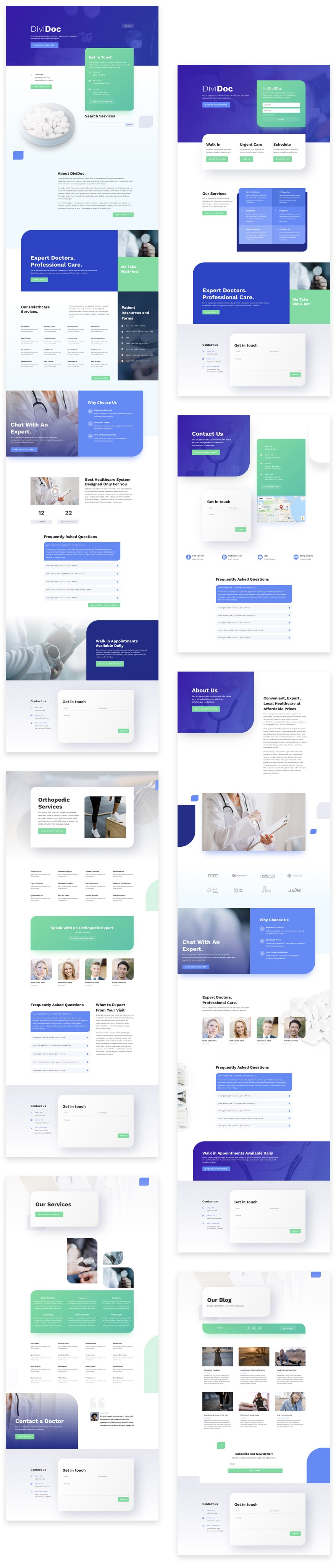 Get a FREE Health Clinic Layout Pack for Divi