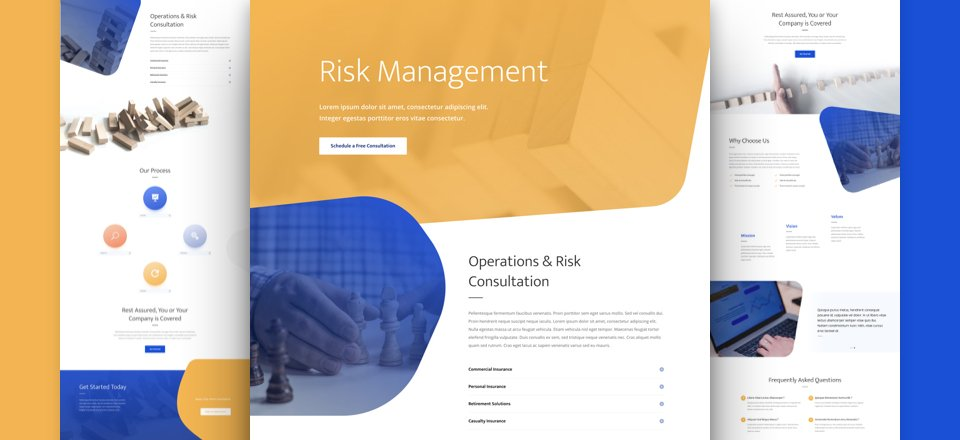 Get a FREE Risk Management Layout Pack for Divi