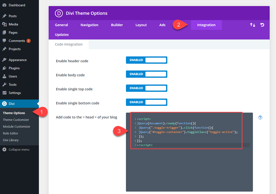 divi page layout
