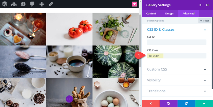 Changing the Number of Columns in the Divi Gallery Module at