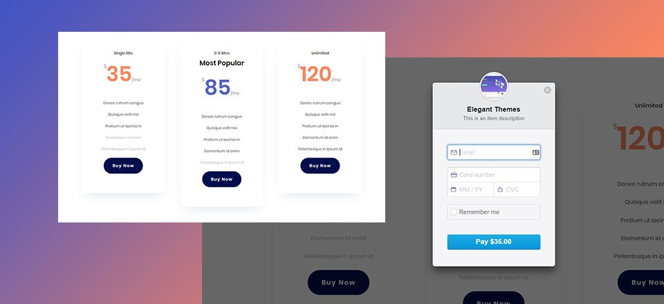 How to Add Simple Stripe Payment Buttons to Your Pricing Tables in Divi