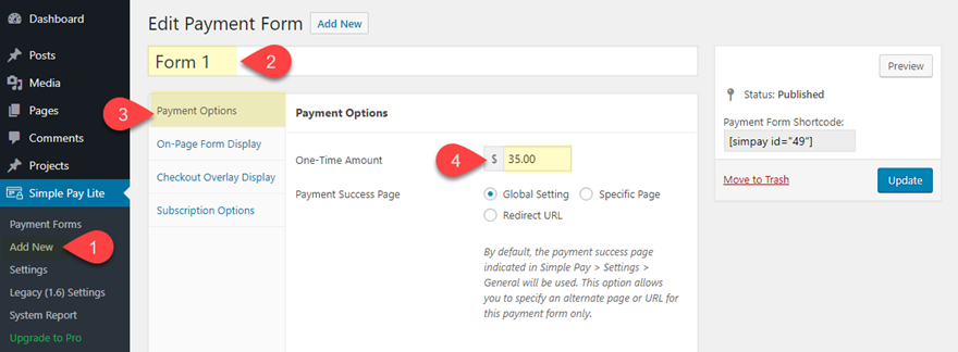 stripe payment buttons