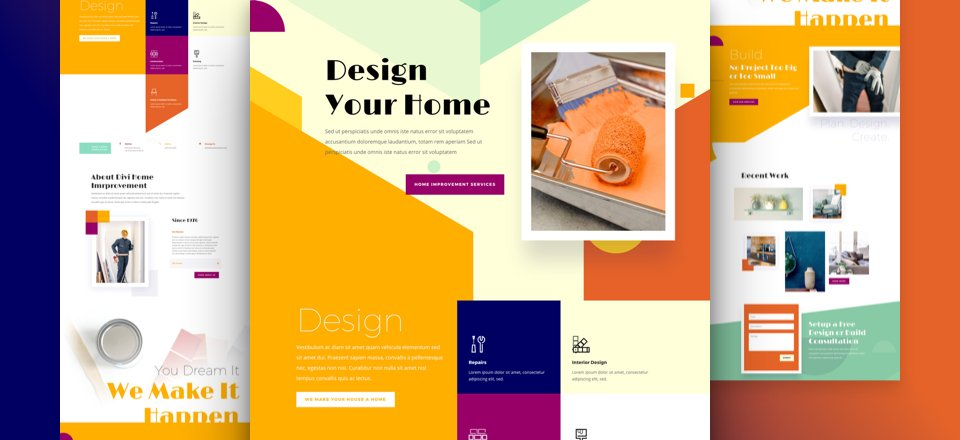 Get a FREE Home Improvement Layout Pack for Divi