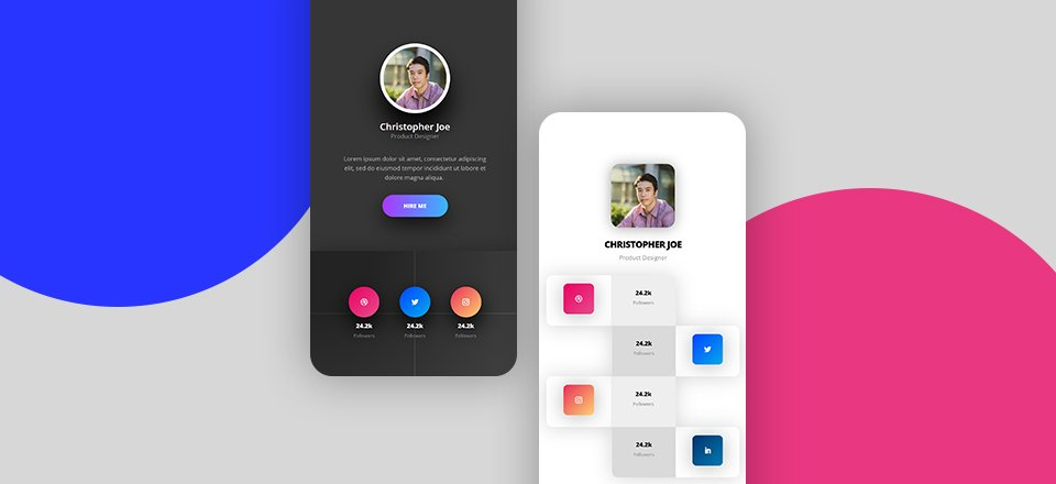 How to Create Beautiful Mobile Social Follow Bios with Divi (Free Download!)