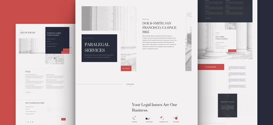 Get a FREE Paralegal Layout Pack for Divi
