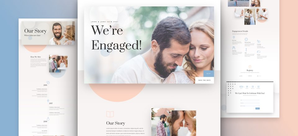 Get a FREE Wedding Engagement Layout Pack for Divi