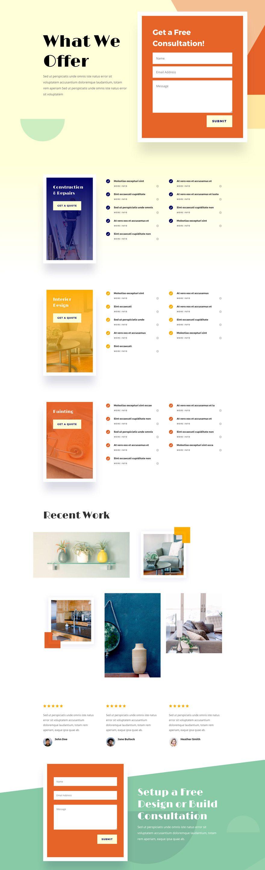 diseño de mejoras para el hogar