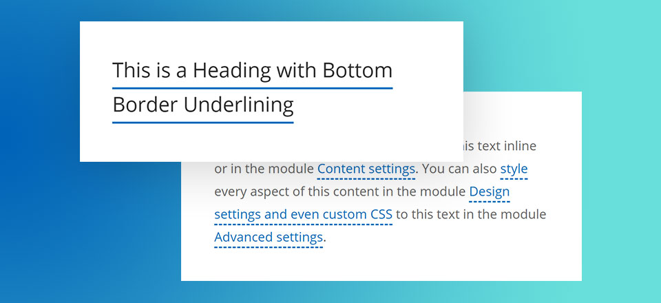 How to Apply Alternative Text Underlining Styles in Divi