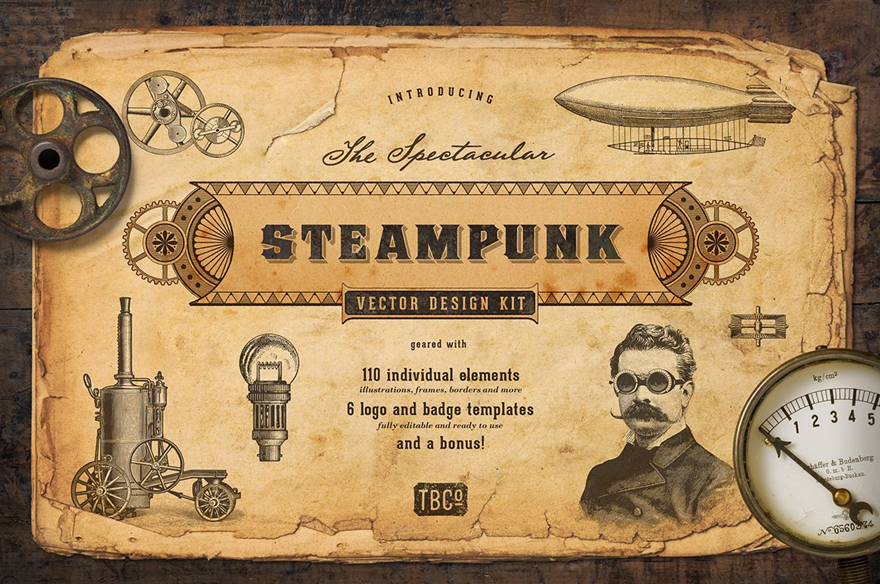 Steampunk Fonts and Victorian Fonts