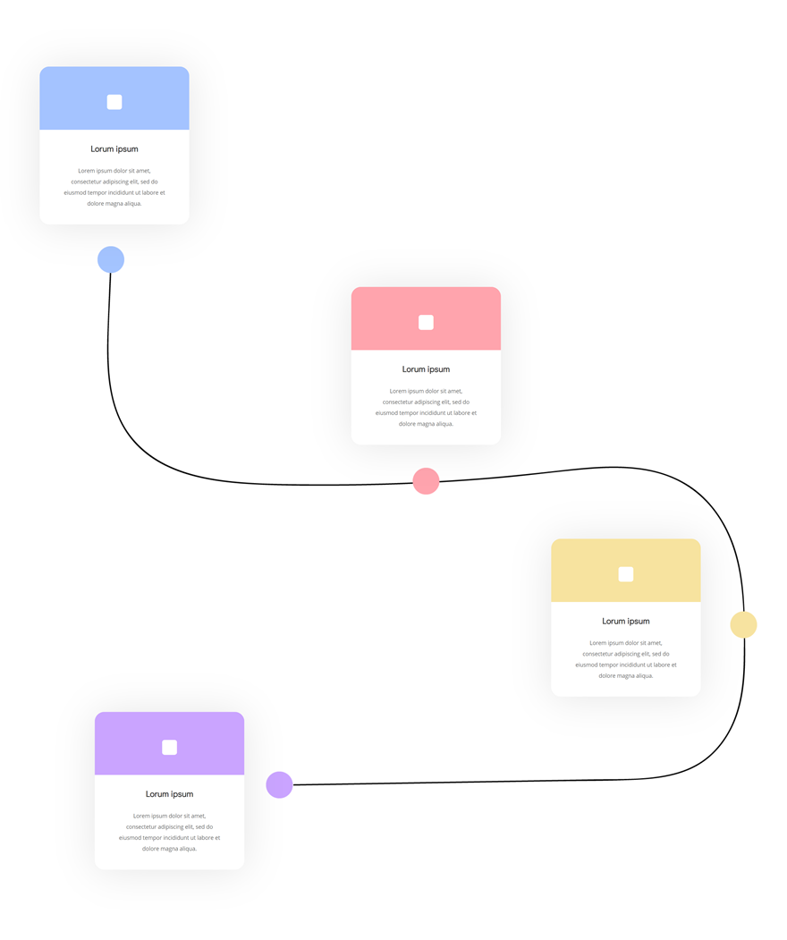 Download a FREE Timeline Section Made with Divi's Transform Options