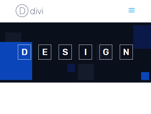animate letters in divi