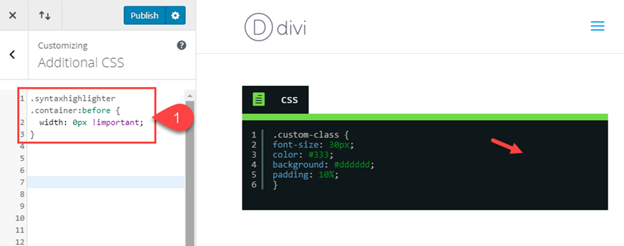 divi code snippets