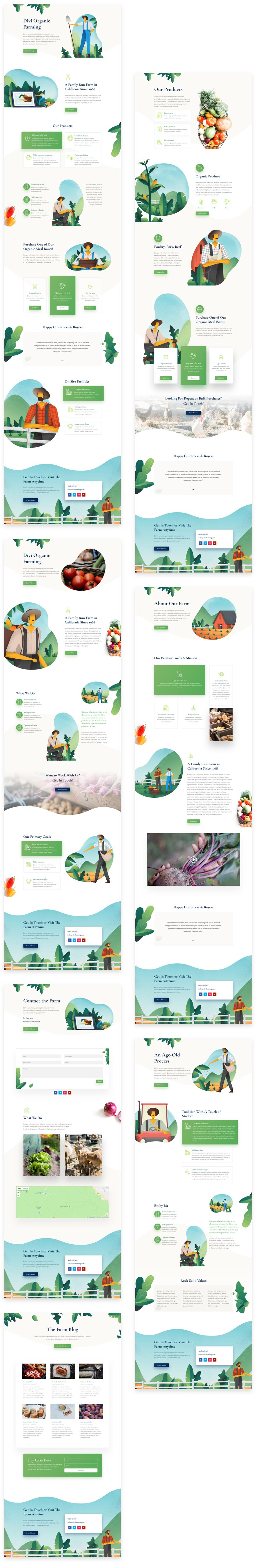 Get a FREE Farmer Layout Pack for Divi