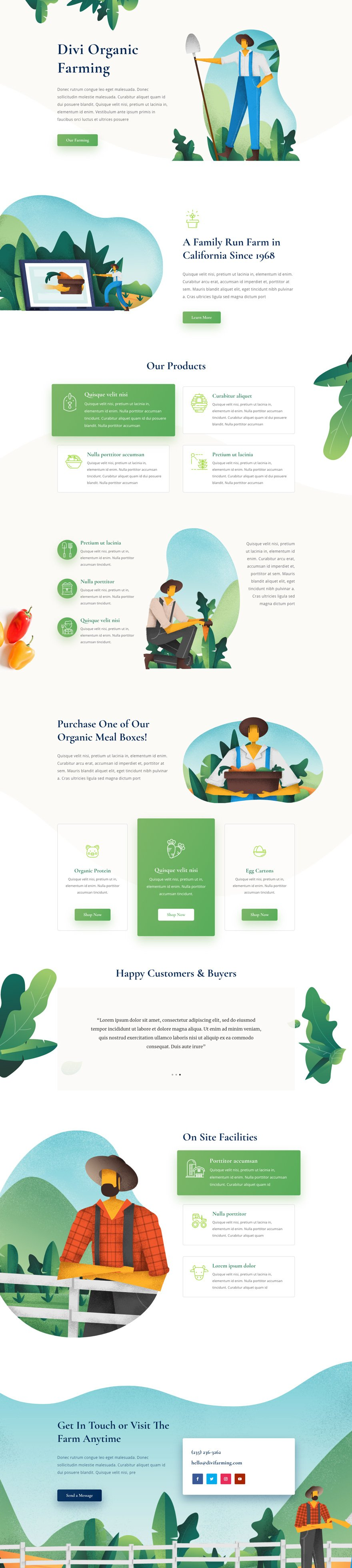 divi farmer layout pack
