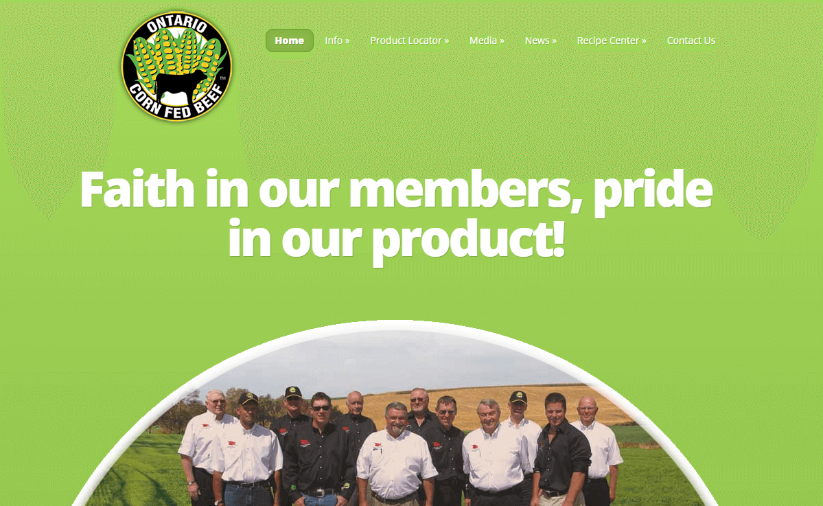 The Ontario Corn Fed Beef website.