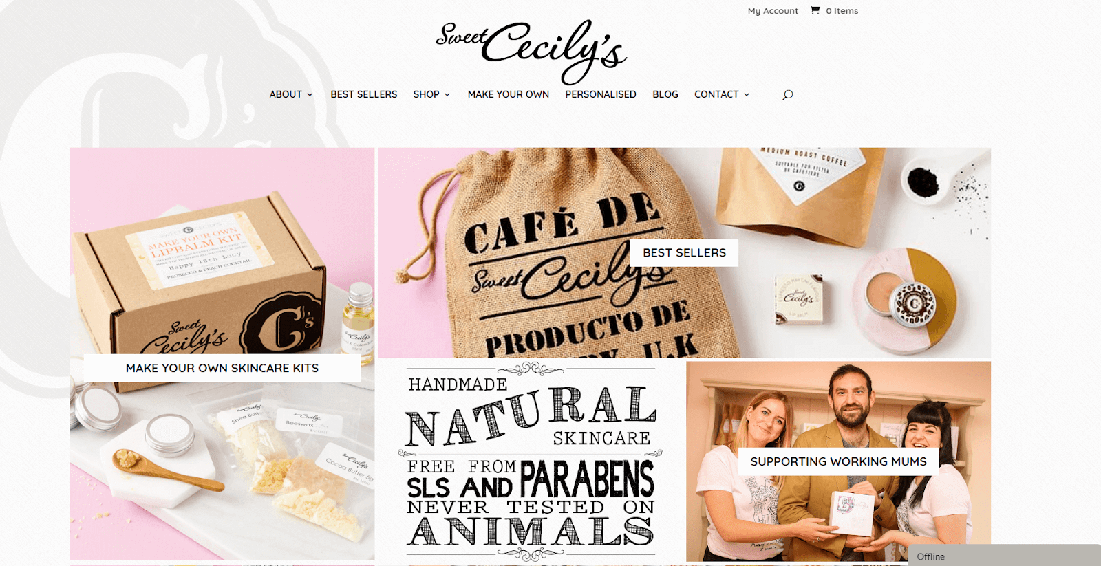 The Sweet Cecily's website.