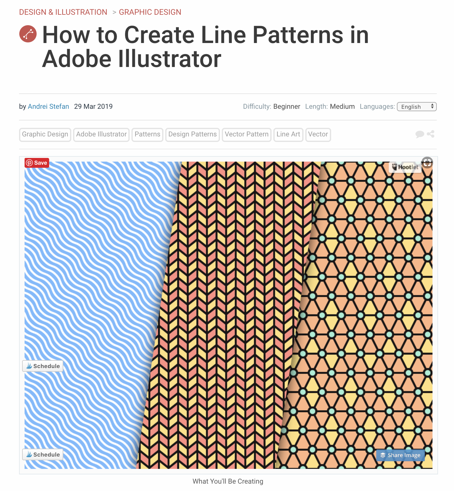 Creating line patterns with Adobe Illustrator