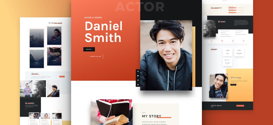 Get a FREE Actor CV Layout Pack for Divi