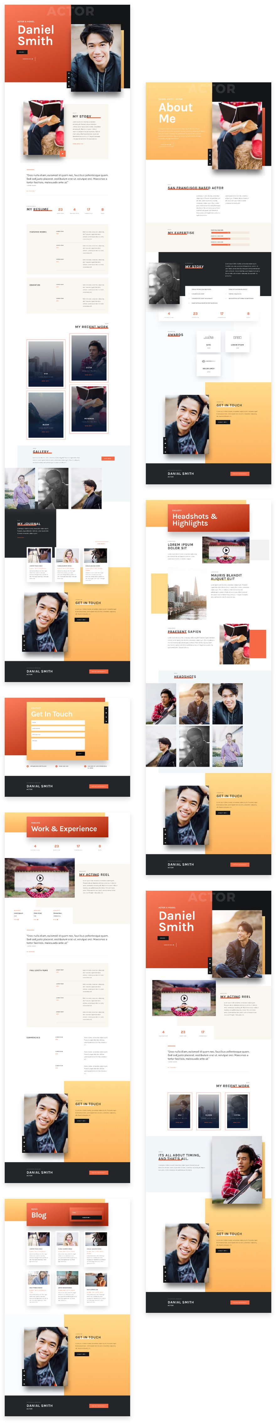Actor CV layout pack