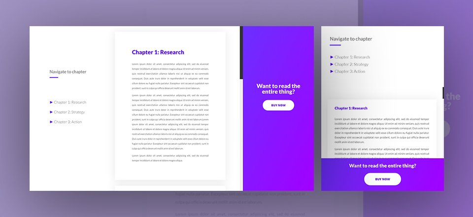 Download a FREE Book Preview Divi Landing Page Layout Including Anchor Links & CTAs