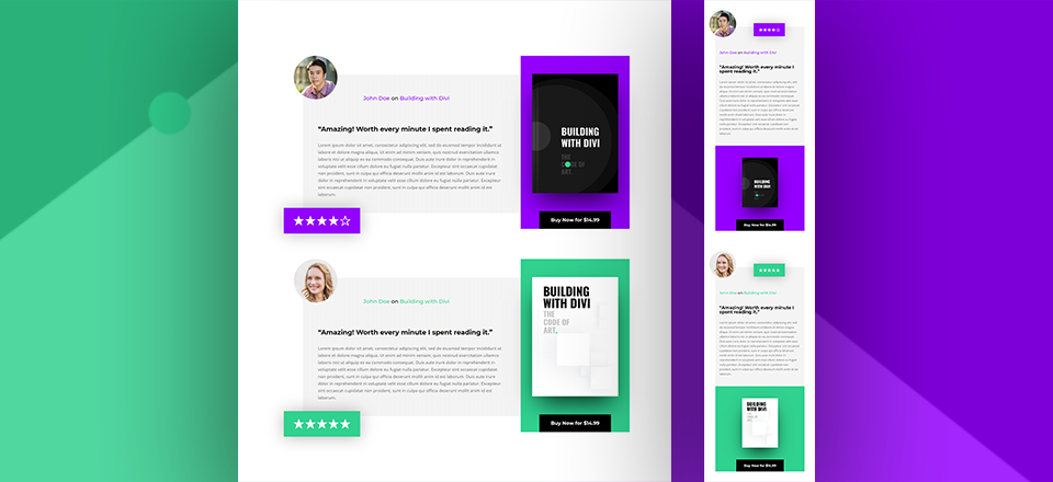 How to Design Eye-Catching Book Reviews for Your Divi Ebook Landing Page