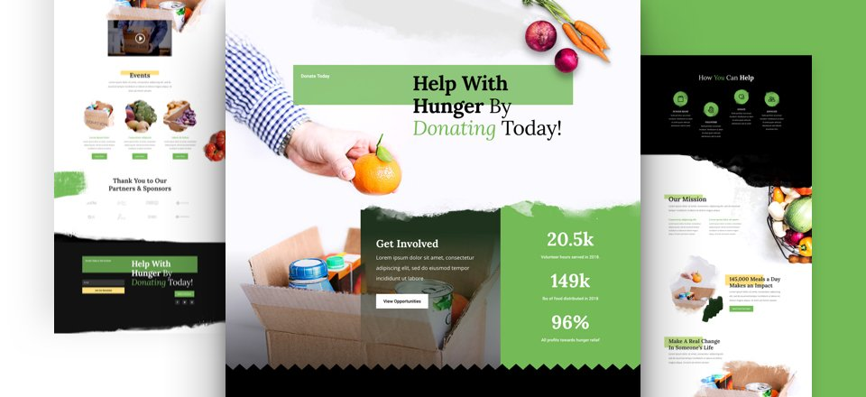 Get a FREE Food Bank Layout Pack for Divi