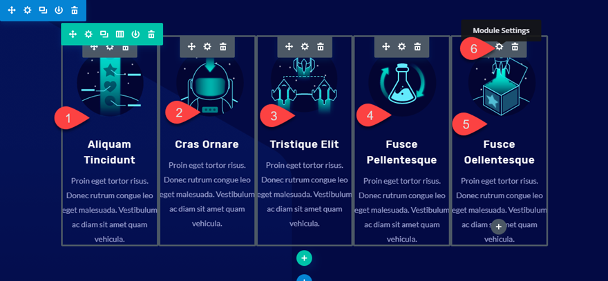 divi floating modules
