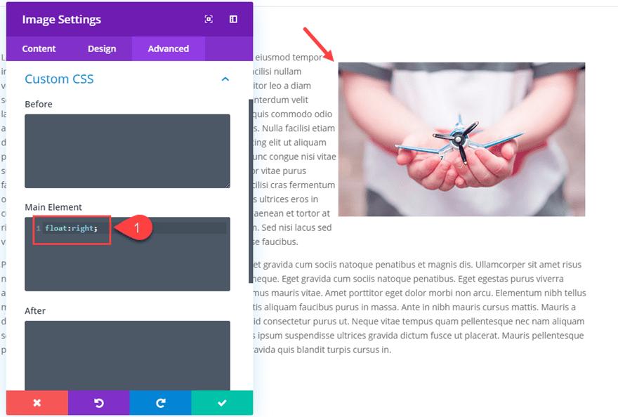 Divi wrap text around images