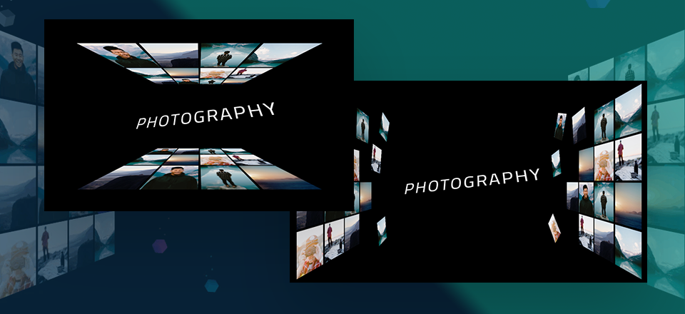 How to use Perspective with Transform Options to Design 3D Photo Walls in Divi