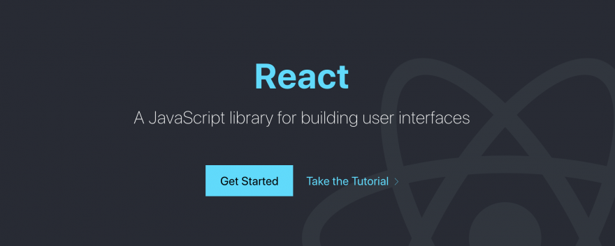 The React Homepage.