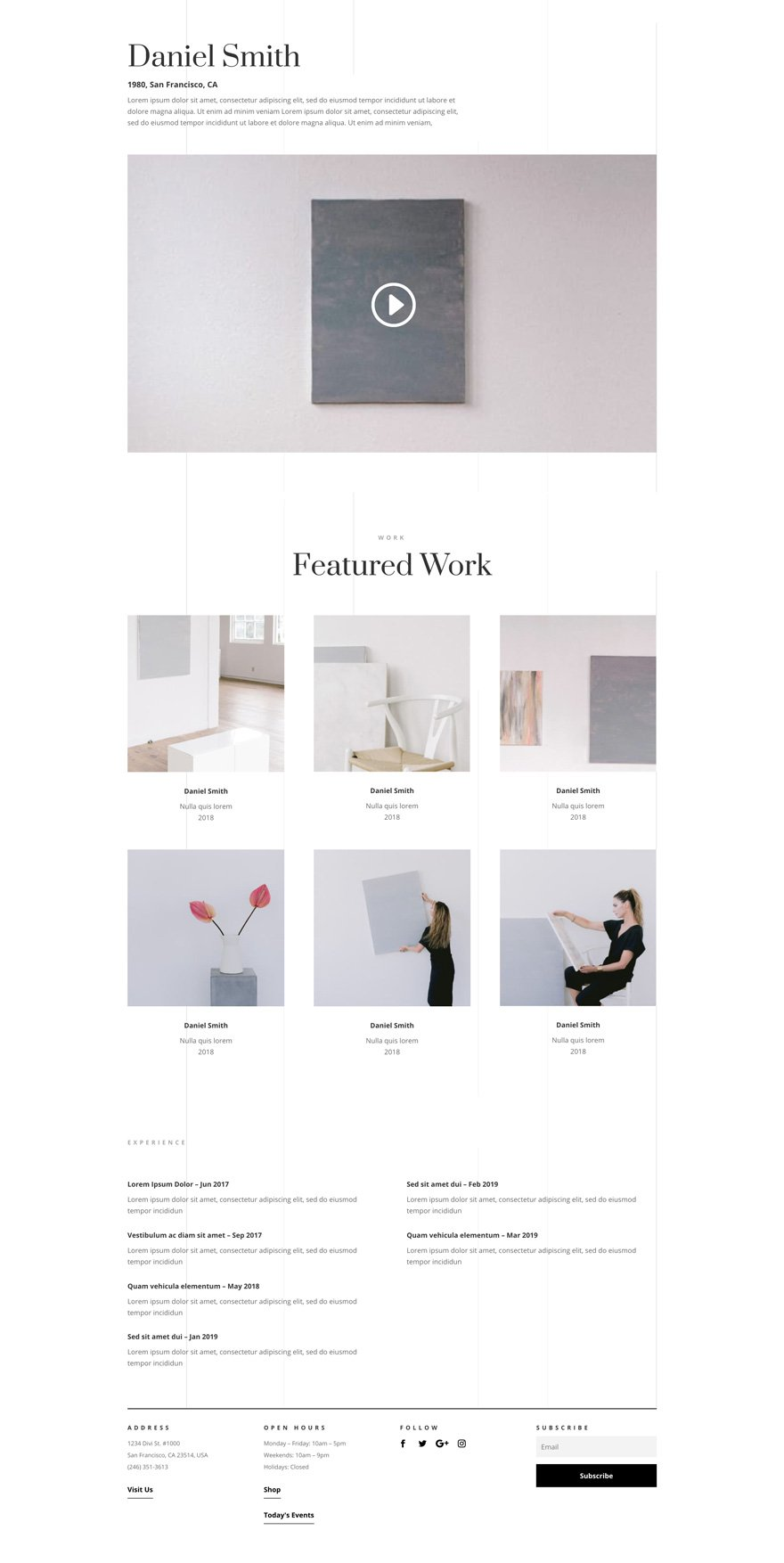 Art Gallery Divi layout pack