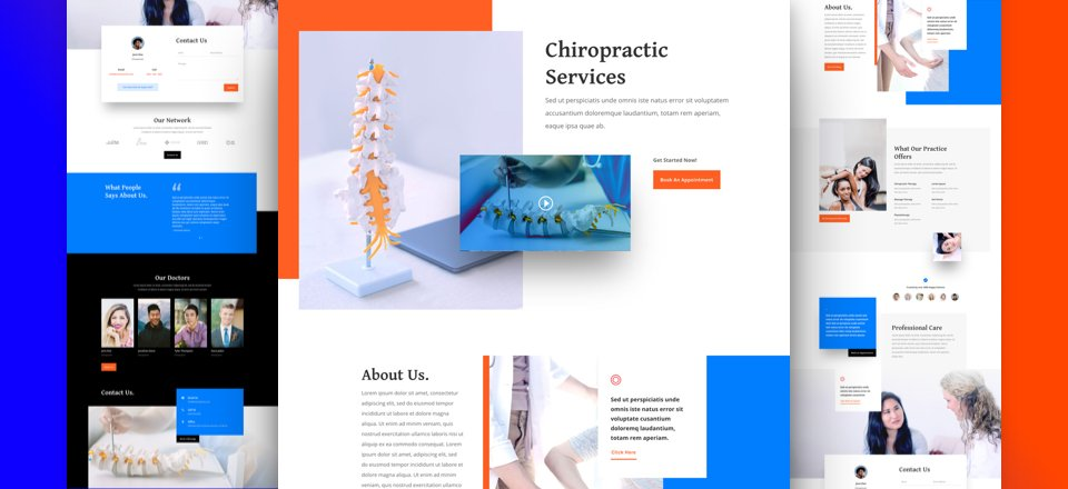 Get a FREE Chiropractor Layout Pack for Divi