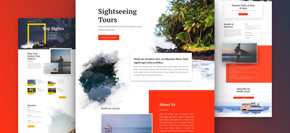 Get a FREE Sightseeing Layout Pack for Divi