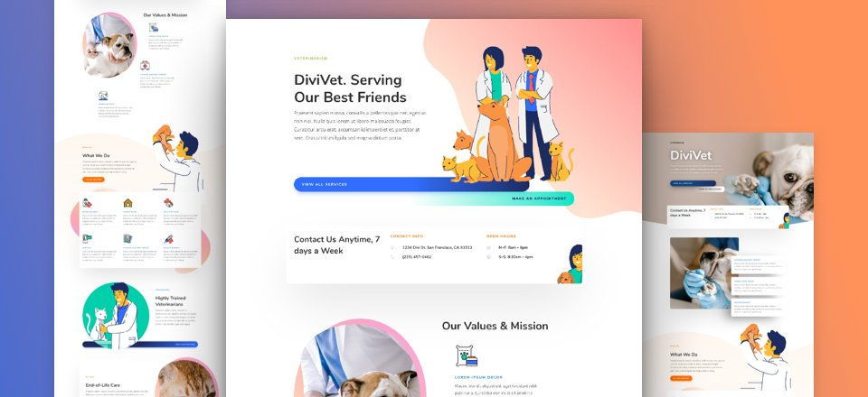 Get a FREE Veterinarian Layout Pack for Divi