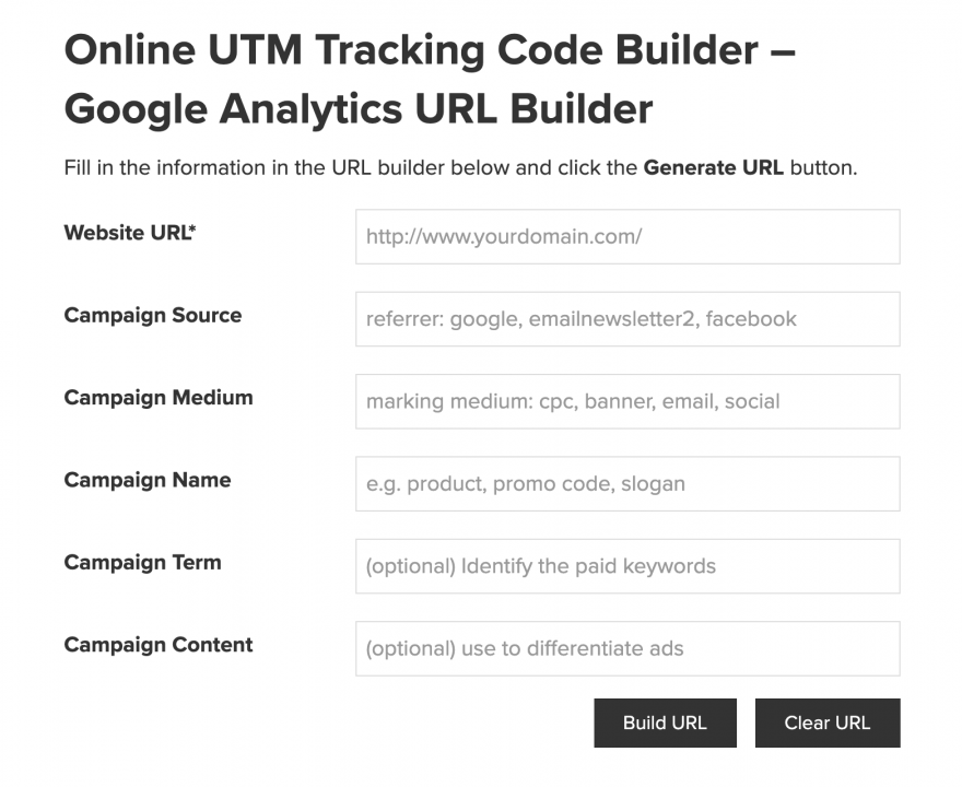 The Effin Amazing UTM Builder.