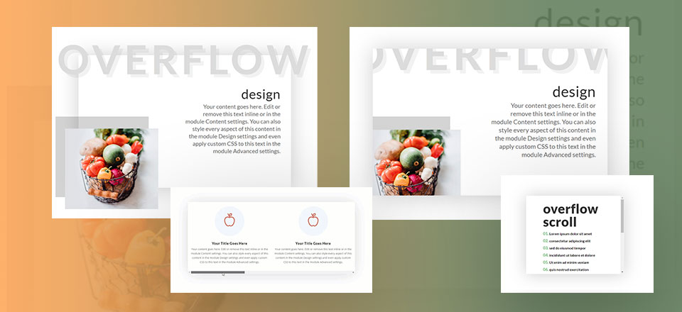 3 Helpful Ways to Use Overflow Options in Divi