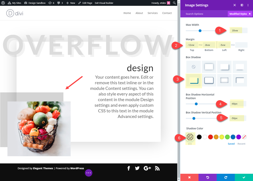 divi overflow options