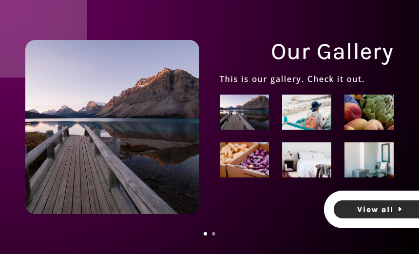 divi photo gallery slider